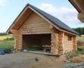 Dobudowy garaże z drewna do domów z bali