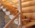 Schody drewniane dla domów z bali