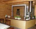 Wnętrza domów z bali - Kuchnie