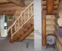 Barierki do schodów w domach z bali