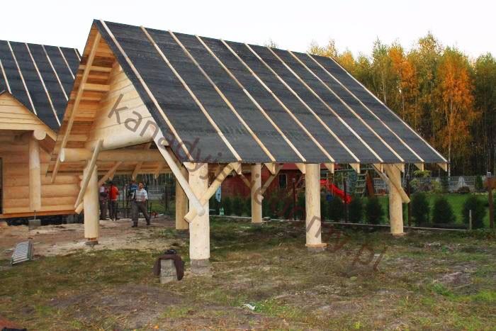 Wszystkie nowe Domy z bali i domy z drewna Zbigniew Szewczyk - Wiaty - dobudowy UX04
